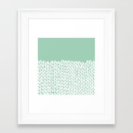 Half Knit Mint Framed Art Print