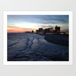 Atlantic City at Sunset Art Print