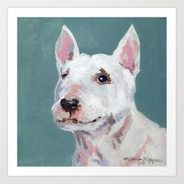 Mini Bull Terrier Art Print