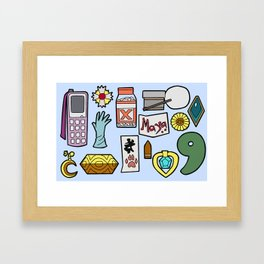 Ace Attorney Inventory Framed Art Print
