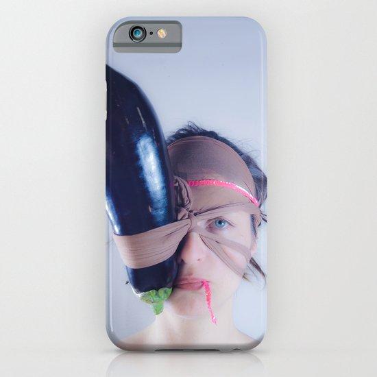 Eggplant portrait iPhone & iPod Case