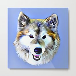 A Wolf Hybrid Metal Print