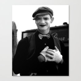 Mime Canvas Print