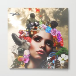 CHINESE HAIRSTYLE Metal Print