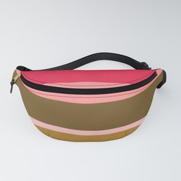 Striped Retro Pink & Brown Blanket Fanny Pack