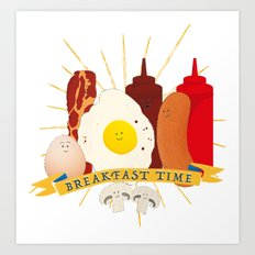 Breakfast time Art Print