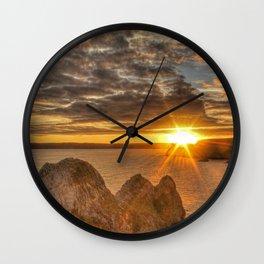 Sunburst Sunset Gower Wall Clock