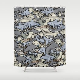 Save ALL Sharks! Shower Curtain