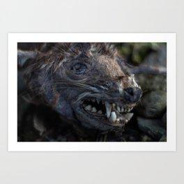 Remains of a Bygone Predator, Headshot Art Print