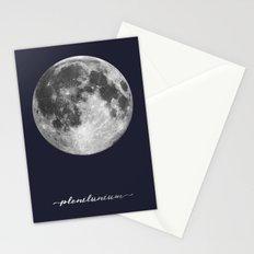 Full Moon on Navy Latin Stationery Cards