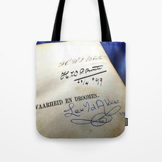 Message In A Book 4 Tote Bag