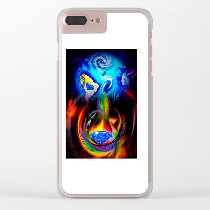 Our World Is A Magic - Is A Diamond Clear iPhone Case