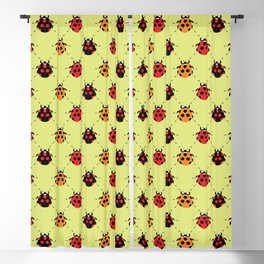 Lady Bug Yellow Blackout Curtain