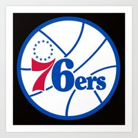 nba Art Prints featuring NBA - 76ers by Katieb1013