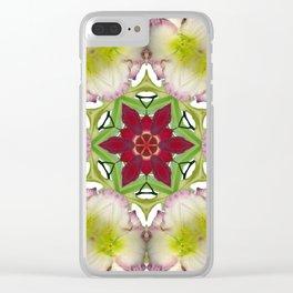 Daylily mandala 6 - Hemerocallis kaleidoscope Clear iPhone Case