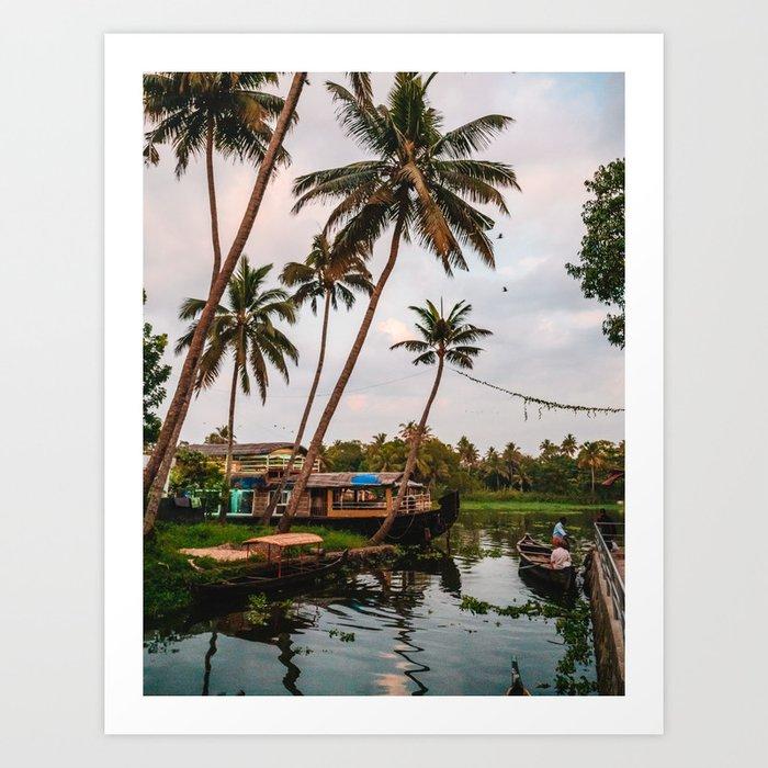 Backwater Sunset Art Print