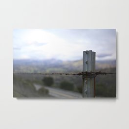 through the wire Metal Print