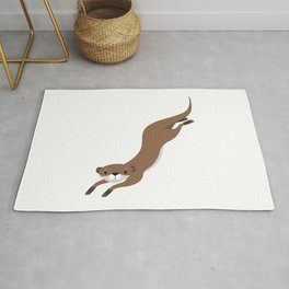 Lovely Brown Otter Swimming Rug