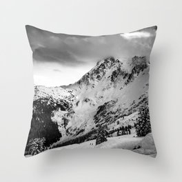 Moody Mt. Baker Throw Pillow
