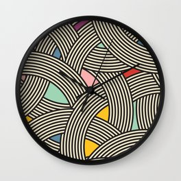 Modern Scandinavian Multi Colour Color Curve Graphic Wall Clock