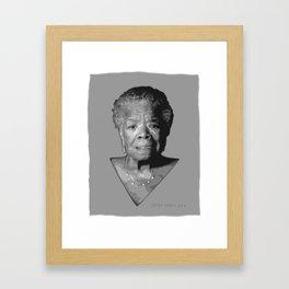 Maya Angelou Framed Art Print