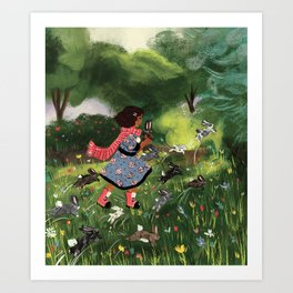 Rabbit Run Art Print