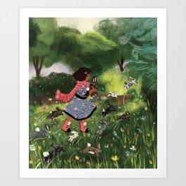 Rabbit Run Art Print