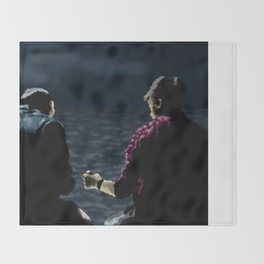 John and Rodney on the Pier Throw Blanket