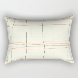 Straight lines with a twist no. 3 Rectangular Pillow