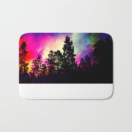 Nebula forest Bath Mat