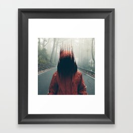 Face into the Abyss Framed Art Print