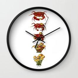 Crab mashroom Wall Clock