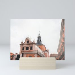 Church ignite by the rising sun Mini Art Print