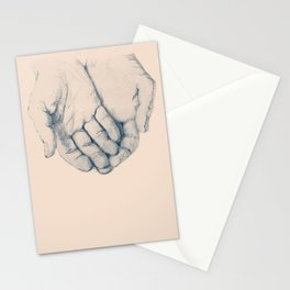 this is your hand, these are my hands, this is the world. Stationery Cards