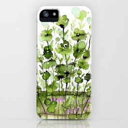 Floral Charm No.1I by Kathy Morton Stanion iPhone Case