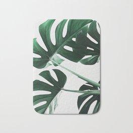 Monstera, Leaves, Plant, Green, Scandinavian, Minimal, Modern, Wall art Bath Mat