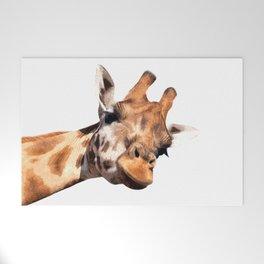 Giraffe portrait Welcome Mat