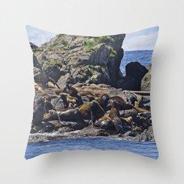 Bathing Beauties - West Coast Art Throw Pillow