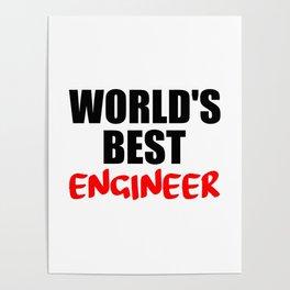worlds best engineer Poster