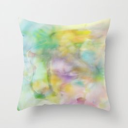 Baba in green Throw Pillow