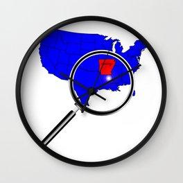 State of Arkansas Wall Clock