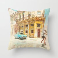 rio Throw Pillows featuring RIO by Nechifor Ionut