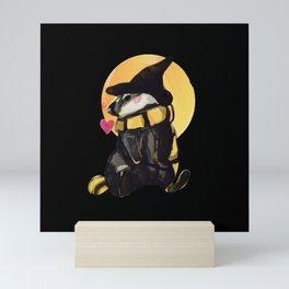 Magical Badger Inspired Watercolor Mini Art Print