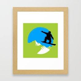 Snowboarding Framed Art Print