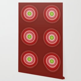 Beetroot Pink Circles Wallpaper