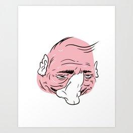 Gross guy no.1 Art Print