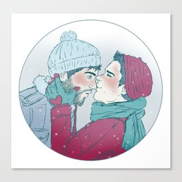 Sterek Snowy Print Canvas Print