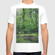 In the Woods White MEDIUM Mens Fitted Tee