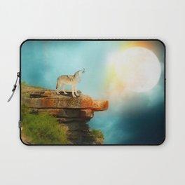 The wolf in the moon by GEN Z Laptop Sleeve