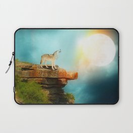 The wolf in the moon by GEN Z Laptop Sleeve